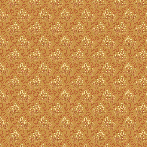 Elderberry in Orange from Secret Stash's Warm Tones Collection by Laundry Basket Quilts for Andover Fabrics.