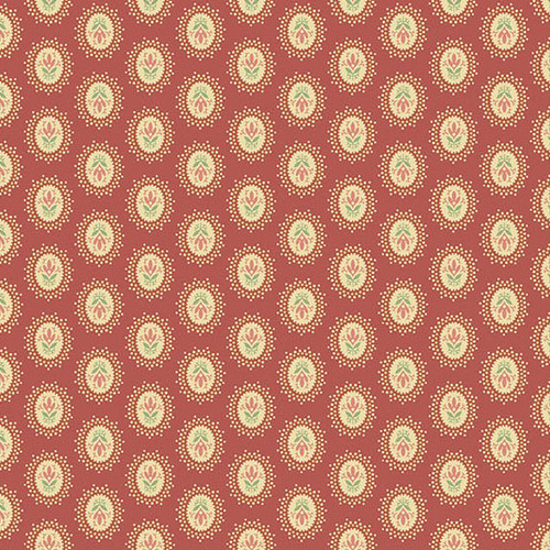 Medallion in Pink from Secret Stash's Warm Tones Collection by Laundry Basket Quilts for Andover Fabrics. 100% Premium Quilting Cotton.