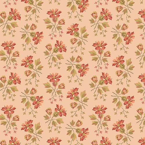 Wildlfower in Pink from Secret Stash's Warm Tones Collection by Laundry Basket Quilts for Andover Fabrics. 100% Premium Quilting Cotton.