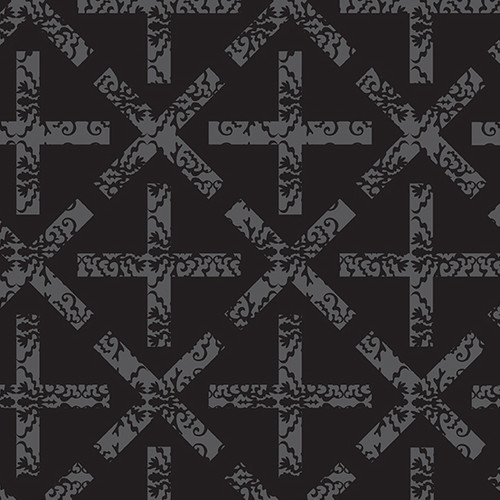 x&+ in Dark from Art Theory by Alison Glass for Andover Fabrics.