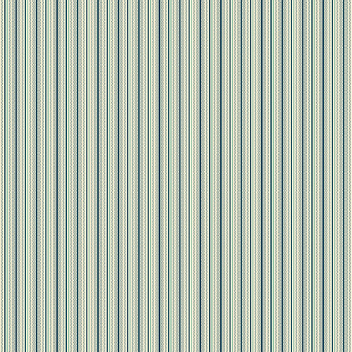 Pinstripe in Navy Blue from Secret Stash's Warm Tones Collection by Laundry Basket Quilts for Andover Fabrics. 100% Premium Quilting Cotton.