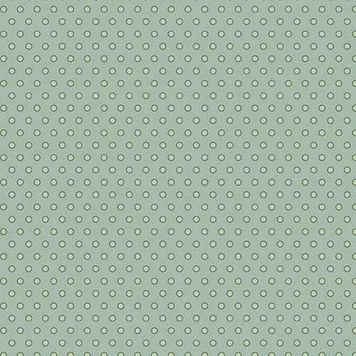 Dot Dot Dot in Green Tea from Secret Stash's Warm Tones Collection by Laundry Basket Quilts for Andover Fabrics. 100% Premium Quilting Cotton.