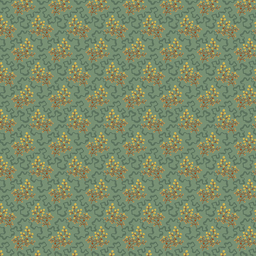 Elderberry in Moss from Secret Stash's Cool Tones Collection by Laundry Basket Quilts for Andover Fabrics.