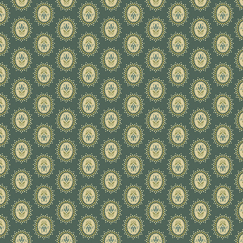Medallion in Evergeen from Secret Stash's Warm Tones Collection by Laundry Basket Quilts for Andover Fabrics. 100% Premium Quilting Cotton.