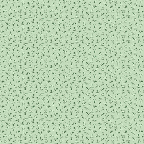 Clove in Jade from Secret Stash's Earth Tones Collection by Laundry Basket Quilts for Andover Fabrics. 100% Premium Quilting Cotton.