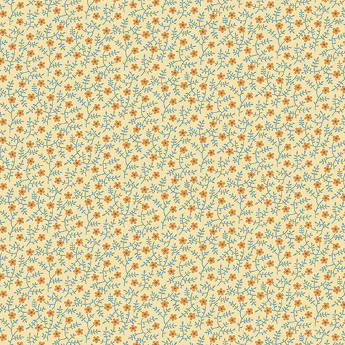 Primrose in Straw from Secret Stash's Earth Tones Collection by Laundry Basket Quilts for Andover Fabrics. 100% Premium Quilting Cotton.