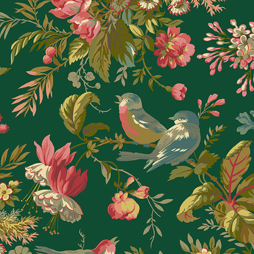 Foliage in Veridian Tones Collection by Laundry Basket Quilts for Andover Fabrics. 100% Premium Quilting Cotton.