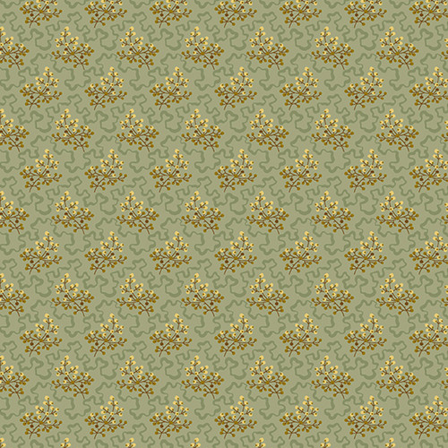 Elderberry in Patina from Secret Stash's Earth Tones Collection by Laundry Basket Quilts for Andover Fabrics. 100% Premium Quilting Cotton.