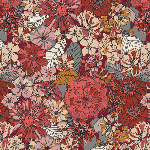 Fleuron Sanctuary from the Kismet Collection for Art Gallery Fabrics.