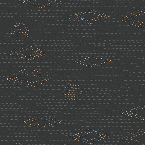Kantha Charcoal from the Kismet Collection for Art Gallery Fabrics.