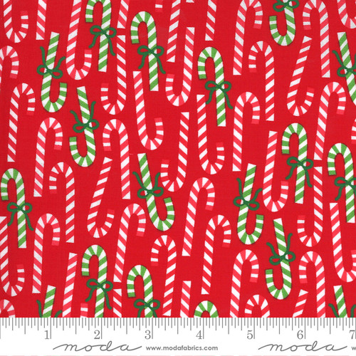 Candy Canes in Red from Merry & Bright for Moda Fabrics