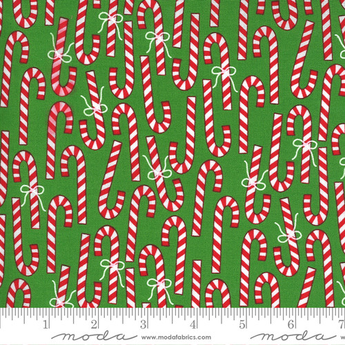 Candy Canes in Green from Merry & Bright for Moda Fabrics