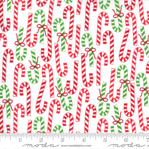 Candy Canes in White from Merry & Bright for Moda Fabrics