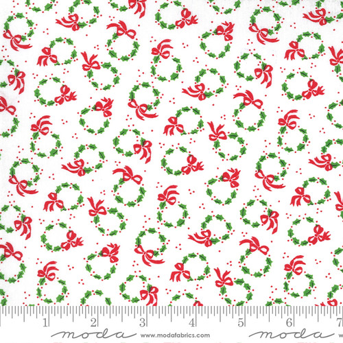 Wreaths in White from Merry & Bright for Moda Fabrics