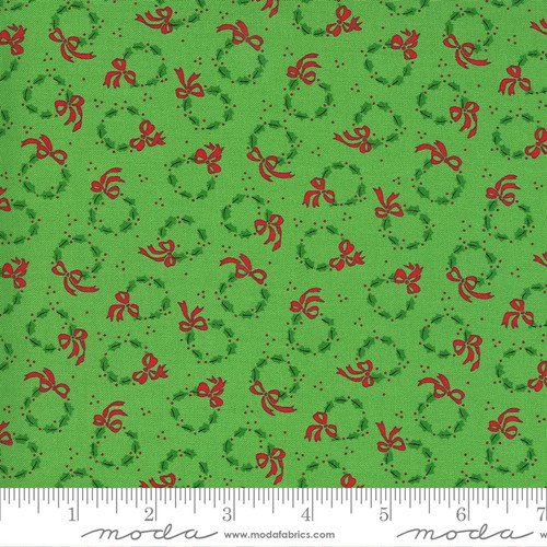 Wreaths in Green from Merry & Bright for Moda Fabrics