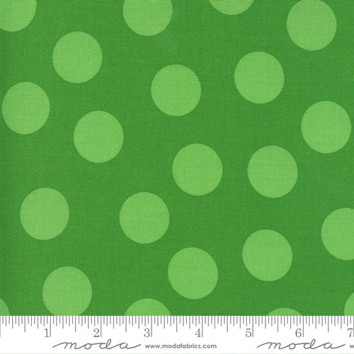 Dots in Green on Green from Merry & Bright for Moda Fabrics