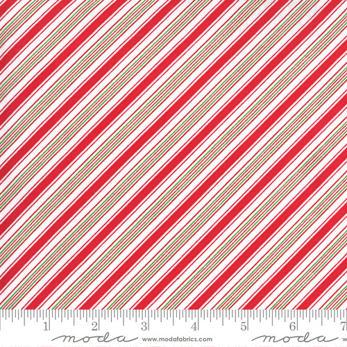 Stripes in Red and Green from Merry & Bright for Moda Fabrics