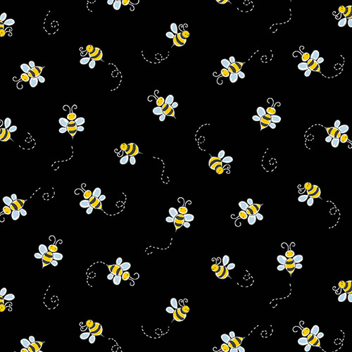Bumble Bee in Black for Andover Fabrics.