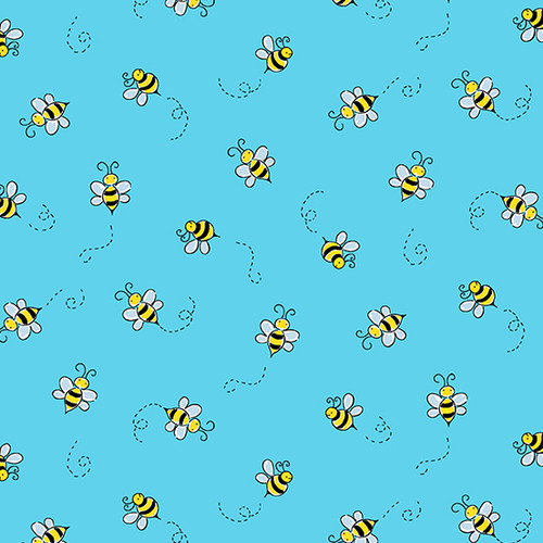 Bumble Bee in Teal for Andover Fabrics.