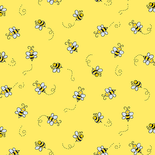 Bumble Bee in Yellow for Andover Fabrics.