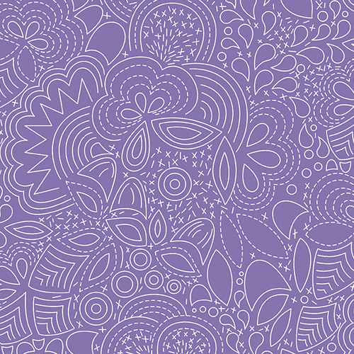 Century Prints Hopscotch Stitched in Wisteria by Alison Glass