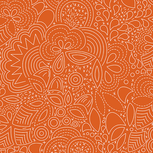 Stitched in Paprika by Alison Glass for Andover Fabrics.