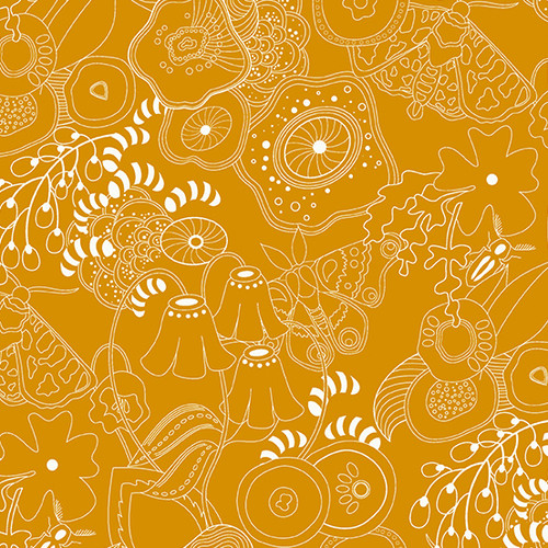 Grow in butternut squash by Alison Glass for Andover Fabrics.
