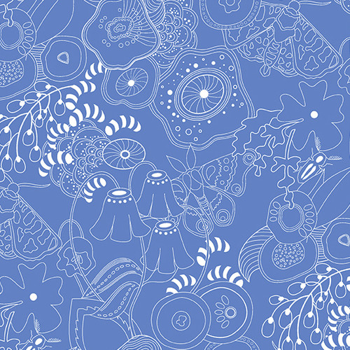 Grow in Bluebell by Alison Glass for Andover Fabrics.