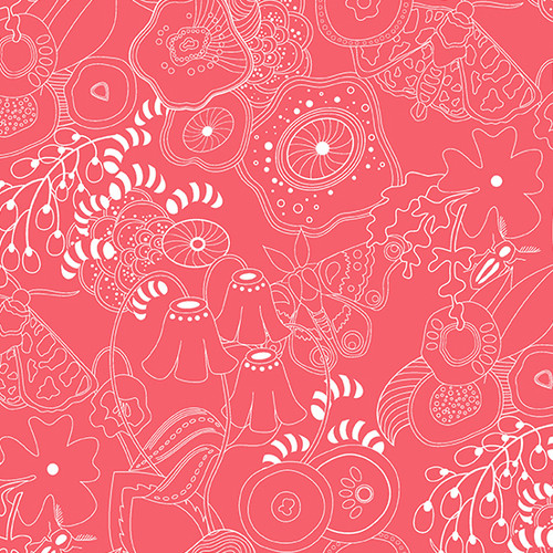 Grow in Guava Pink by Alison Glass for Andover Fabrics.