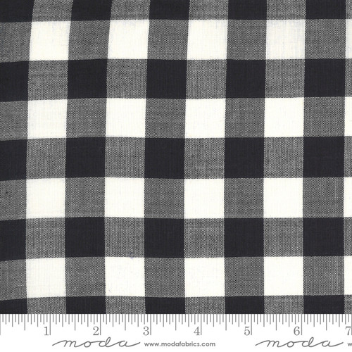 Big checks in charcoal stripe jen kingwell