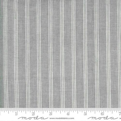 white stripe silver Low Volume Wovens by Jen Kngwell