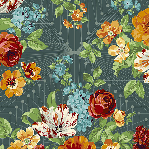 Francesca in Mediterraneo from Nonna by Giucy Giuce for Andover Fabrics.