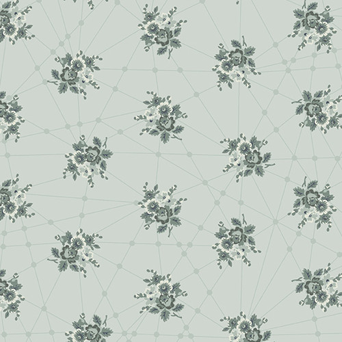Little Bouquets in Classic Grey from Nonna by Giucy Giuce for Andover Fabrics.