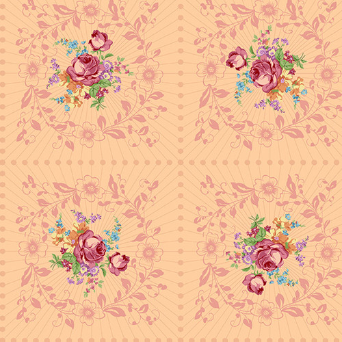 Wreath in Rosalia from Nona by Giucy Giuce for Andover Fabrics.