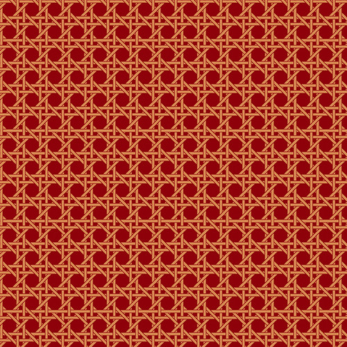 Caning in Sundried Tomato from Nonna by Giucy Giuce for Andover Fabrics.