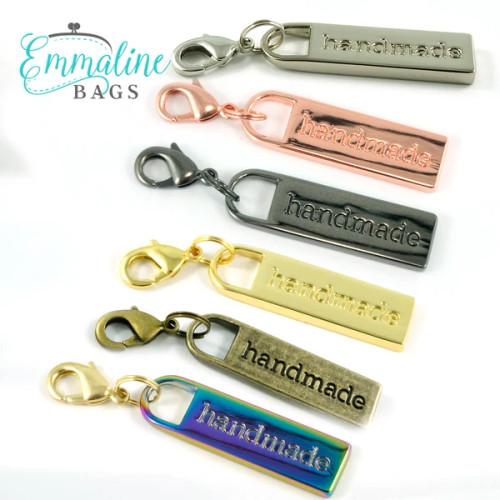 "Emmaline - ""Handmade"" Zipper Pull"