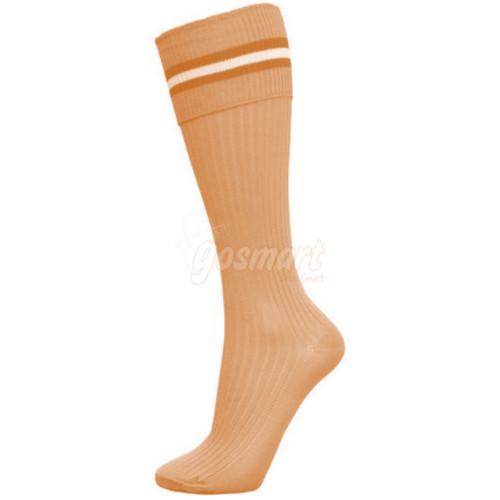 Beige Body with Brown/Beige/Brown Stripes School Socks from Gosmart