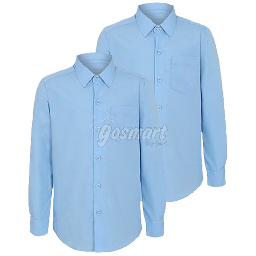 Sky Blue School Shirts (Short/Long Sleeves)