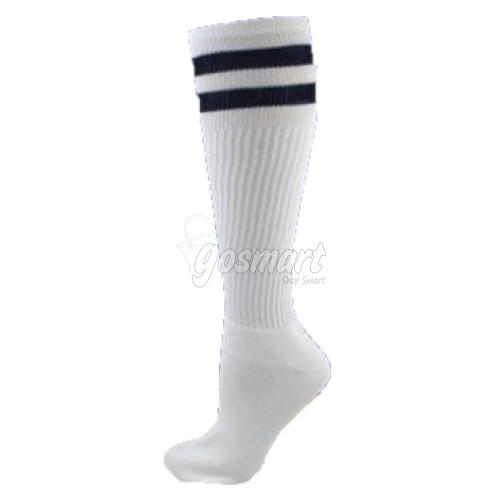 White Body with Black/White/Black Stripes School Socks from Gosmart