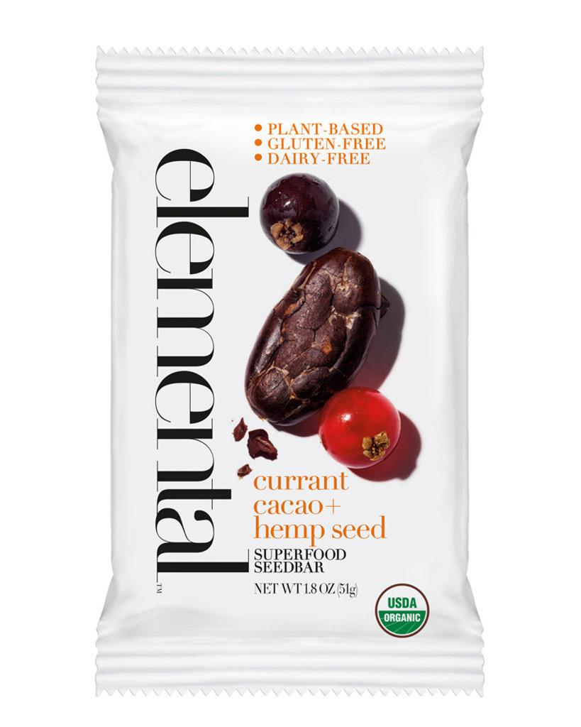 Currant Cacao + Hemp Seed Seedbar (12 bars per pack)