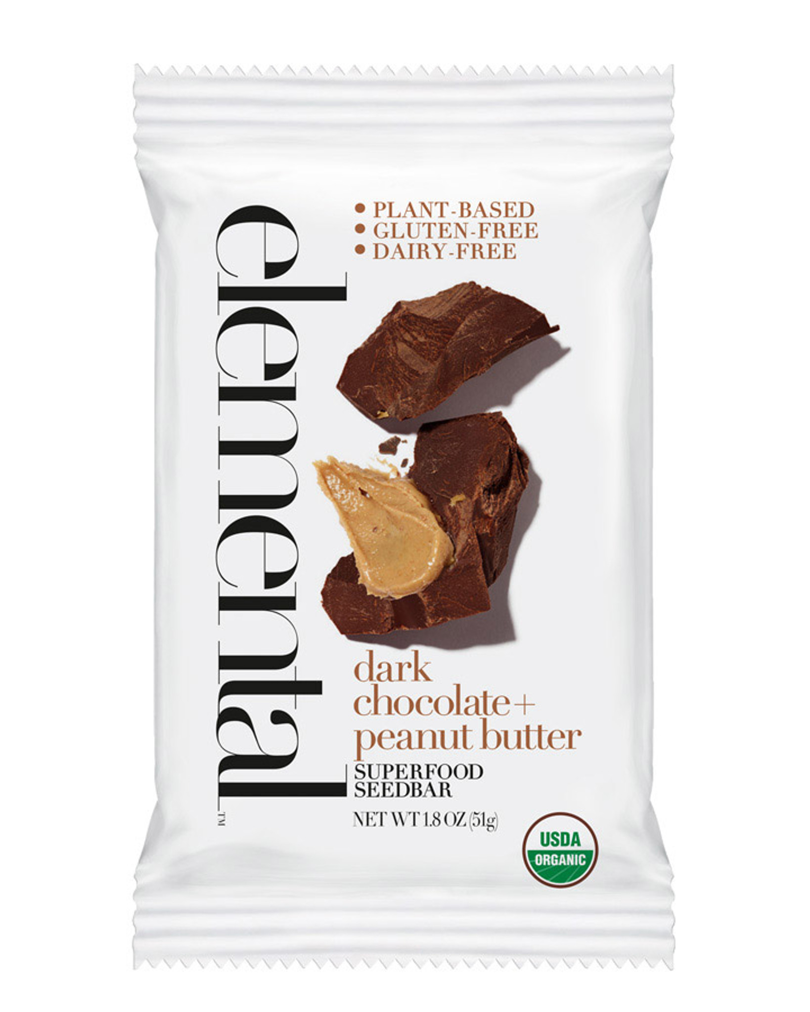 Dark Chocolate + Peanut Butter Seedbar (12 bars per pack)