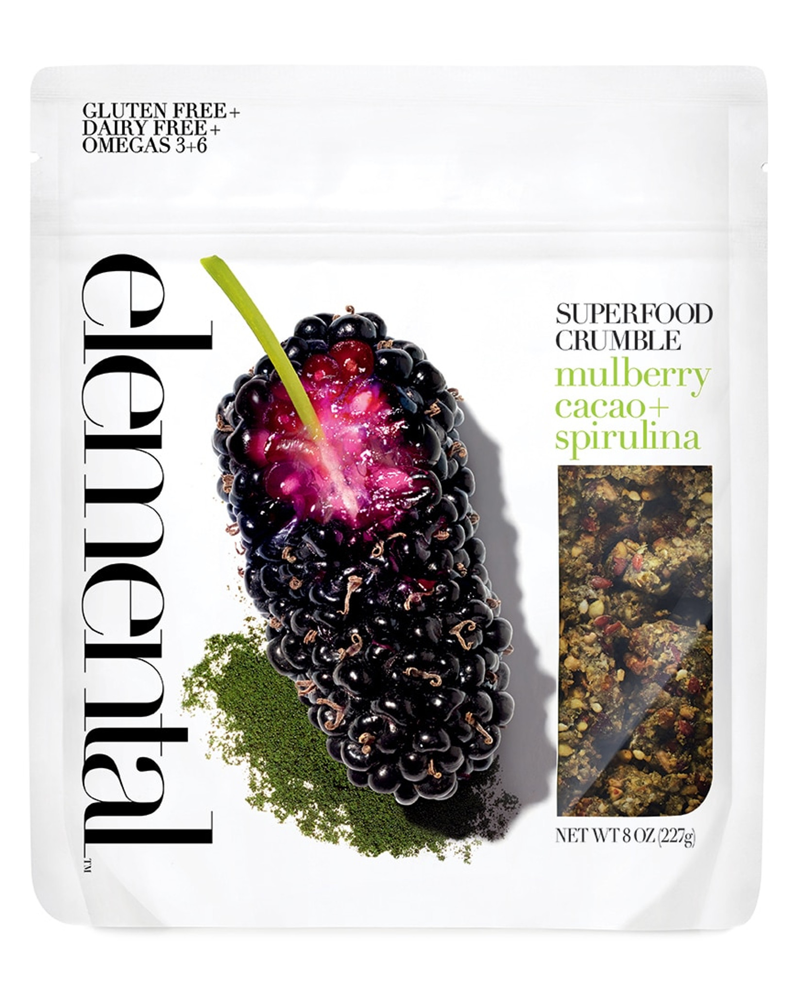 Crumble Mulberry Cacao + Spirulina
