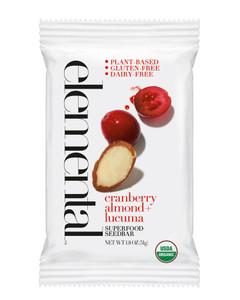 Cranberry Almond + Lucuma Seedbar (12 bars per pack)
