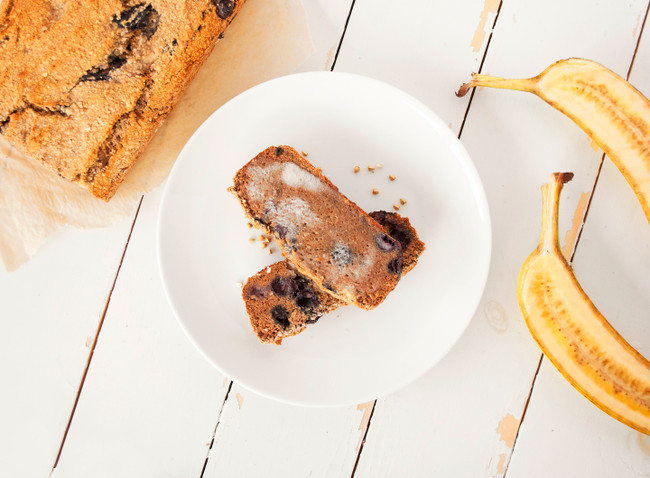 Blueberry Cardamom Banana Bread