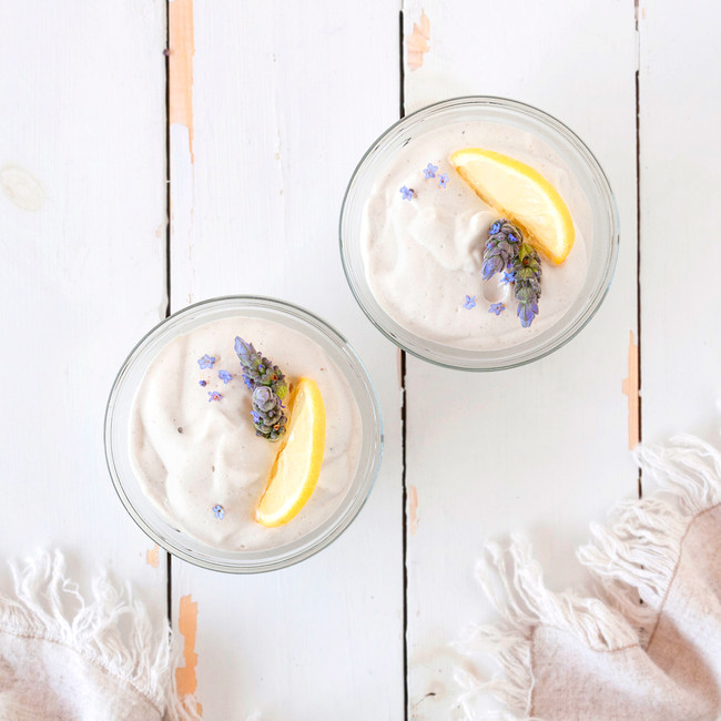 Lemon Lavender Coconut Macadamia Pudding
