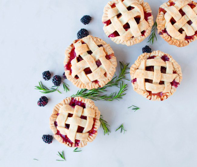 Blackberry Pear Pies with Rosemary