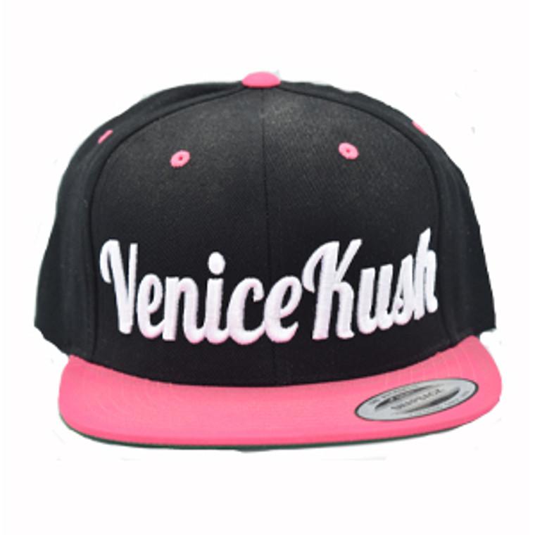 Venice Kush Snap Back - PINK AND BLACK