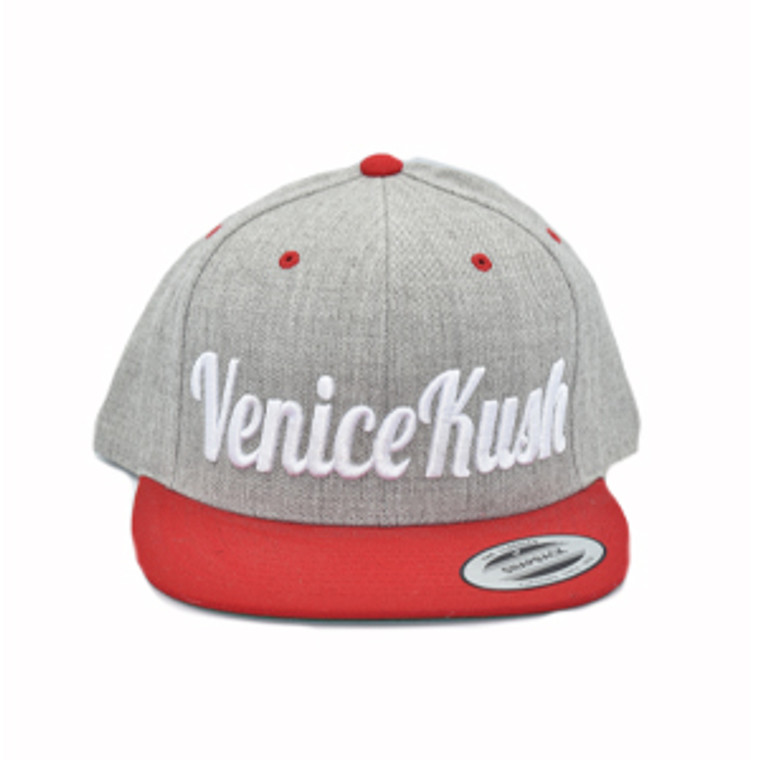 Venice Kush Snap Back - RED AND GREY