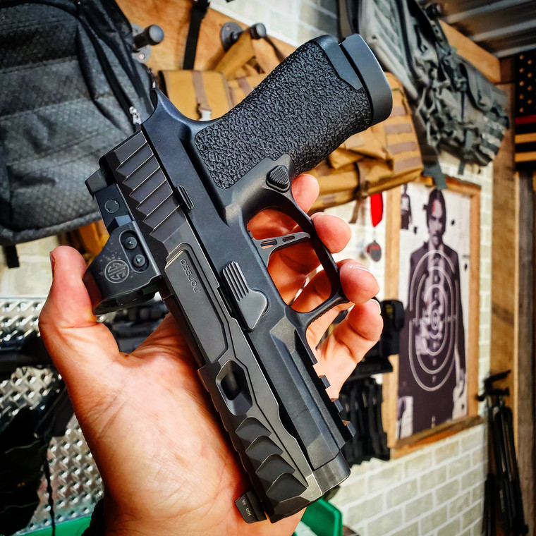 """Ready to ship p320 xcompact grip module with our """"basics""""package and """"EDC"""" texture"""