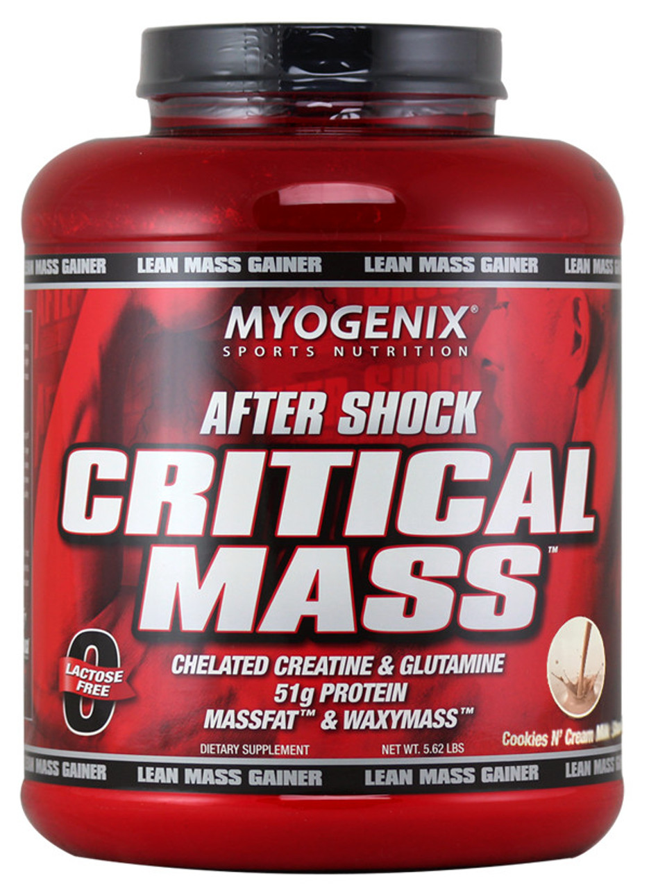Myogenix After Shock Critical Mass Cookies N Cream Milk Shake 5 62lbs Nutrimart